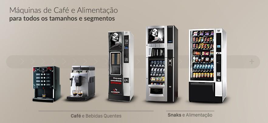 Banner principal de máquinas de café e snacks