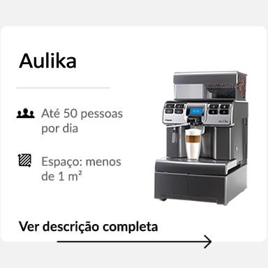 Máquila de café Aulika detalhes
