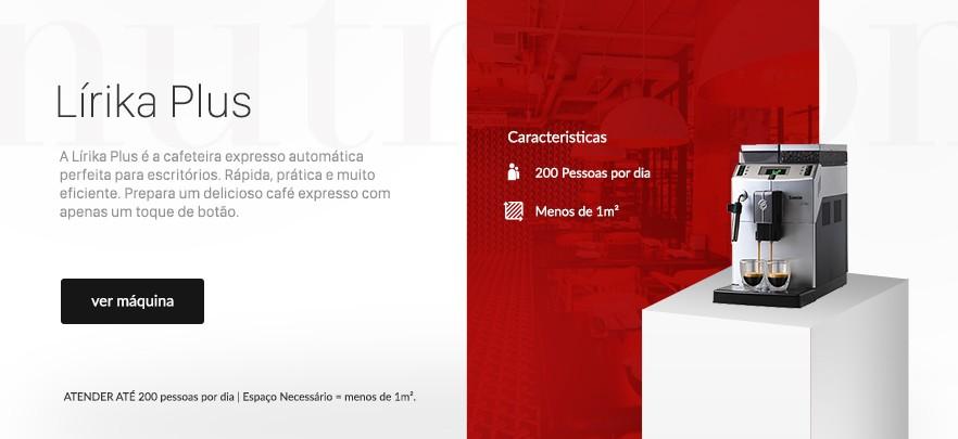 Banner Cafeteira Expresso Automática Lírika Plus