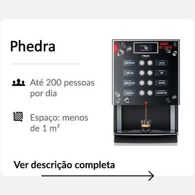 Detalhes máquina de café Phedra